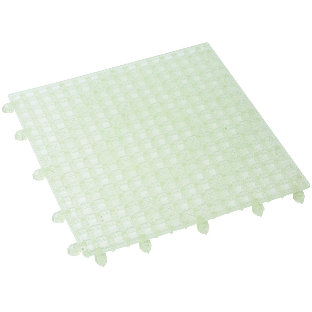 Interlocking Bar Mat (12X12 Inch, Clear Color)