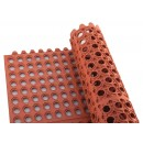 "Winco RBMI-33R Red Anti-Fatigue Interlocking Rubber Floor Mat 3"" x 3"" x 1/2"""