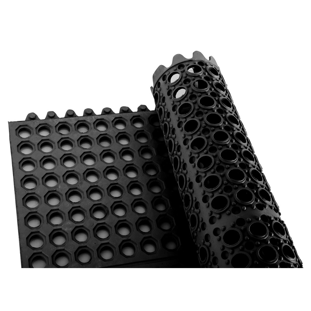 Interlocking Rubber Floor Mat Squares 36