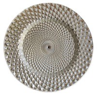 """Jay Import 1470333 Istanbul Silver 13"""" Charger Plate"""