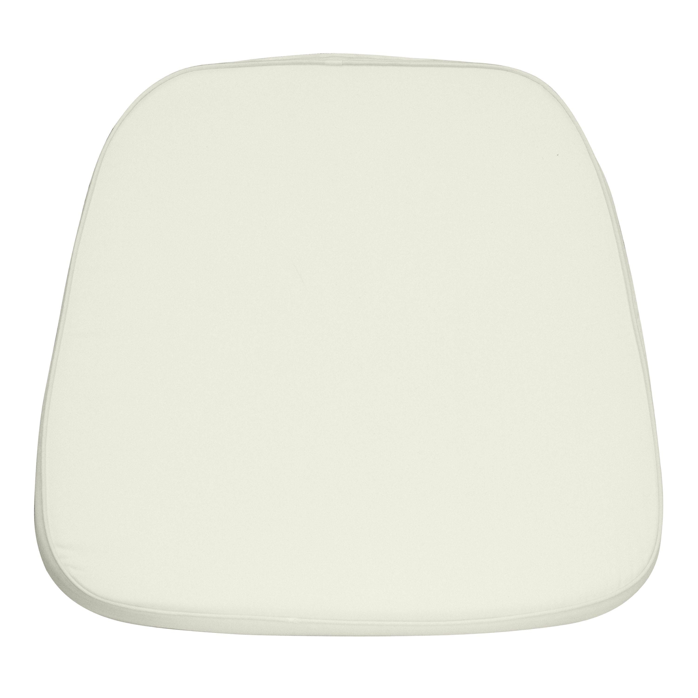 Flash Furniture LE-L-C-WHITE-GG Soft Ivory Chiavari Chair Cushion