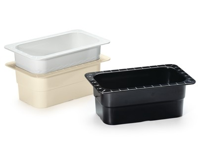 "G.E.T. Enterprises ML-28-IV Ivory Melamine 1/4 Size Food Pan, 4"" Deep"
