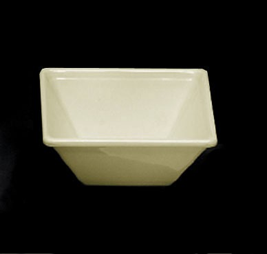 Ivory Melamine 11 Oz. Square Bowl - 4-3/4