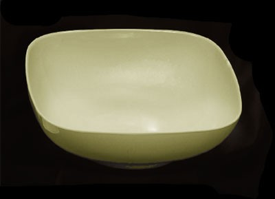 Thunder Group PS3111V Passion Pearl Melamine 128 oz. Round Square Serving Bowl 11""