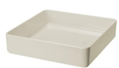 G.E.T. Enterprises ML-85-IV Milano Melamine. Ivory Square Bowl 12""