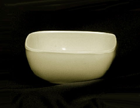Thunder Group PS3103V Passion Pearl Melamine 5 oz. Round Square Bowl 3-1/2""