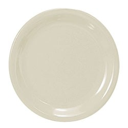 Thunder Group CR110V Ivory Melamine Narrow Rim Round Plate 10-1/2""