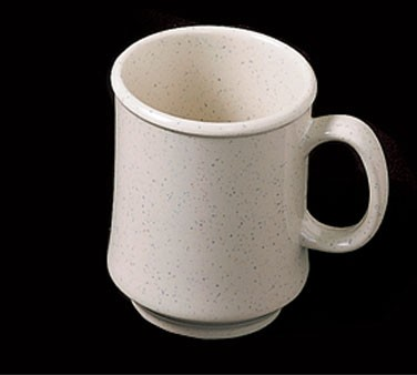 Thunder Group AD908WS San Marino Bone White Melamine Mug with Handle 9 oz.