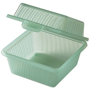 "G.E.T. Enterprises EC-08-1-JA Jade Eco-Takeouts 4-3/4"" x 4-3/4"" Single Entr�e Food Container"