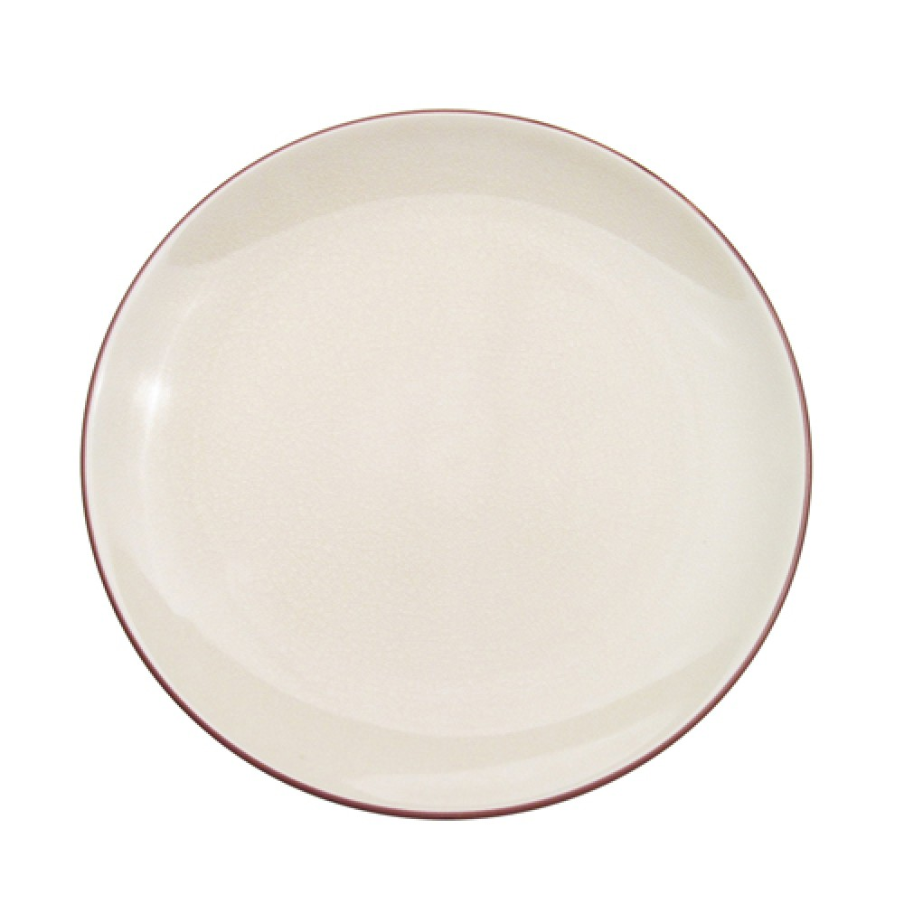 "CAC China 666-16-W Japanese Style 10"" Coupe Plate, Creamy White"