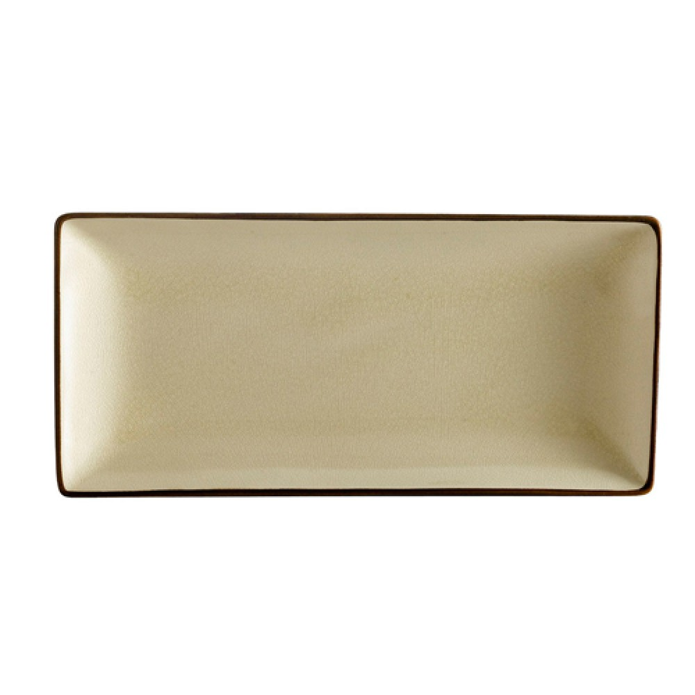 "CAC China 666-13-W Japanese Style Rectangular Plate, Creamy White 11.5"" x 6.5"""