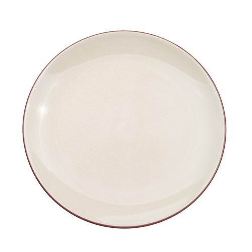 """CAC China 666-21-W Japanese Style 12"""" Coupe Plate, Creamy White"""