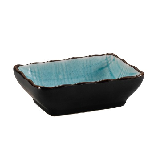 "CAC China 666-32-BLU Japanese Style 3-1/4"" x 2-1/2"" Sauce Dish, Lake Water Blue"