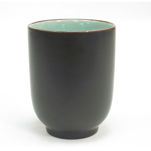 CAC China 666-1-BLU Japanese Style Cup 8 oz. Lake Water Blue