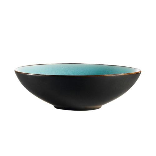 "CAC China 666-28-BLU Japanese Style 8"" Salad Bowl, Lake Water Blue"