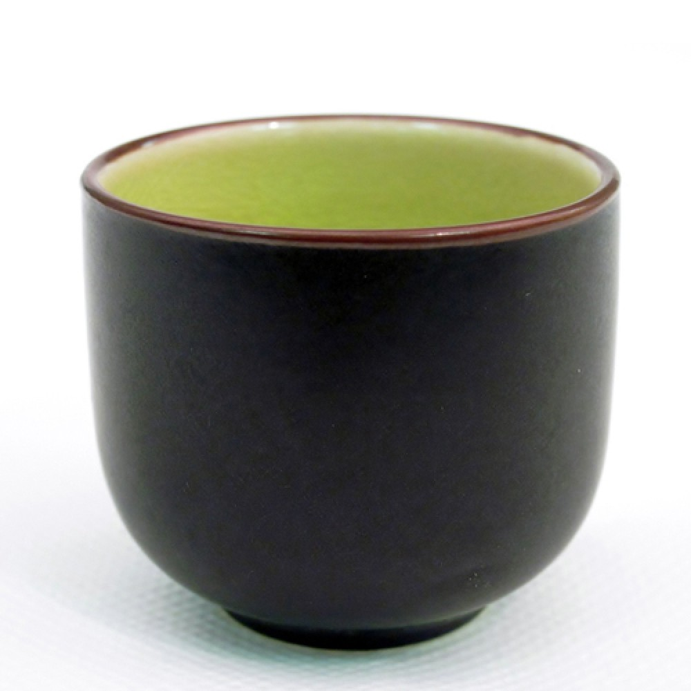 Japanese Style Wine Cup 1.5 Oz Golden Green