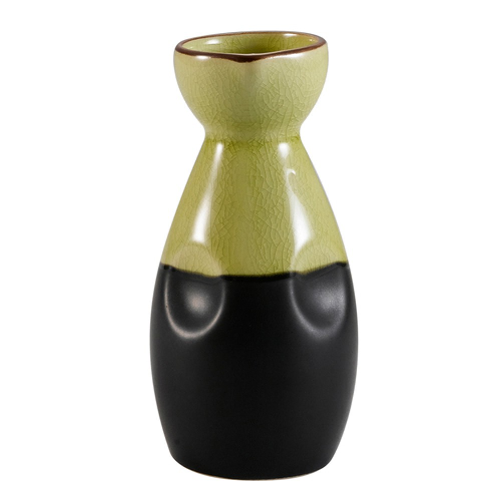 Japanese Style Wine Pot 6 Oz Golden Green