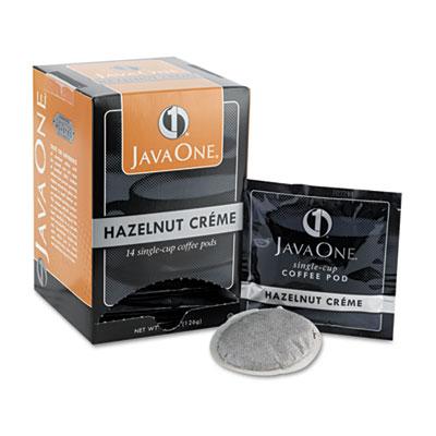 Java One Coffee Pods, Hazelnut Creme, Single Cup, 14/Box