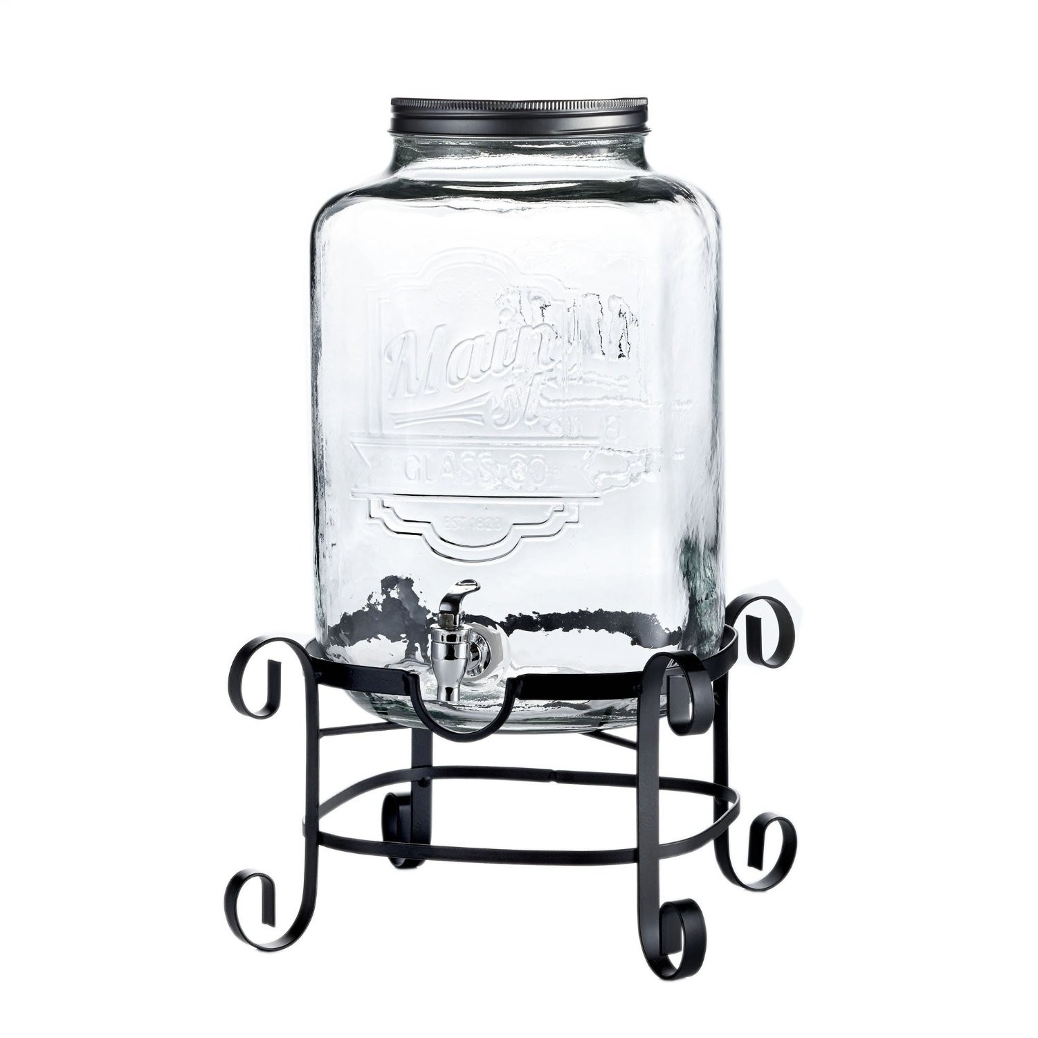 Jay Import 210263-GB Style Setter Main Street Beverage Dispenser with Stand
