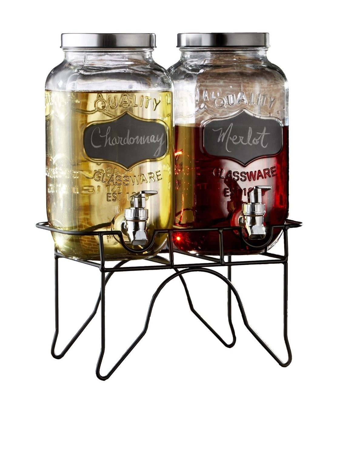 Jay Import Style Setter Blackboard Beverage Dispenser Set With Stand
