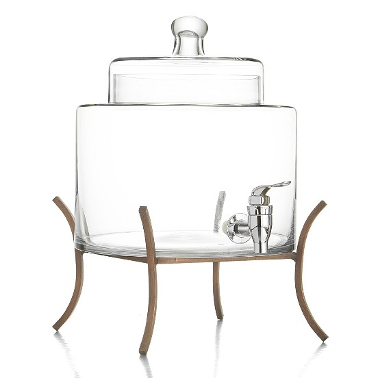 Jay Import 210780 Style Setter Glass Beverage Dispenser with Metal Stand