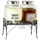 Jay Imports Style Setter 210981-Gb Williamsburg Glass Beverage Dispenser Set With Stand