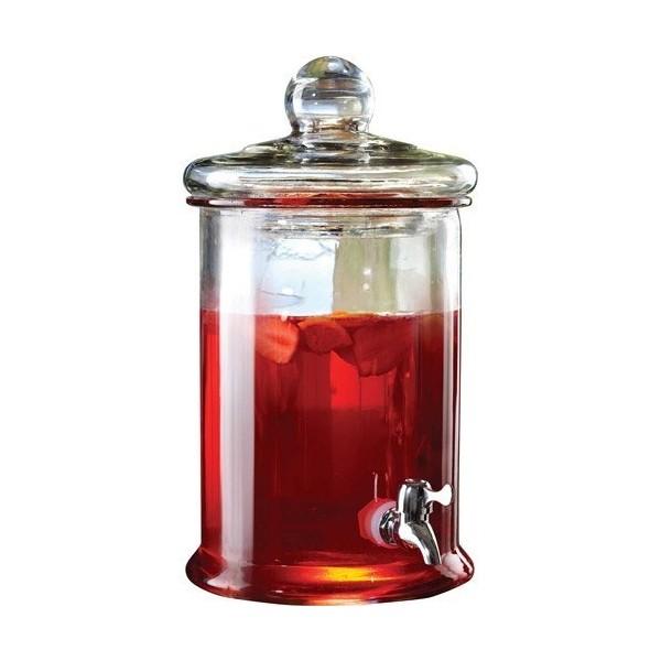 Jay Import 210987-GB Norfolk Glass Beverage Dispenser