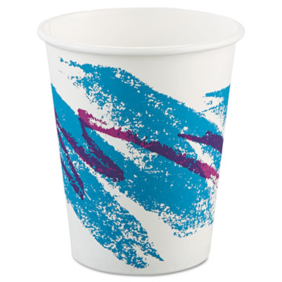 Jazz Paper Hot Cups, 10oz, Polycoated, 50/Bag, 20 Bags/Carton