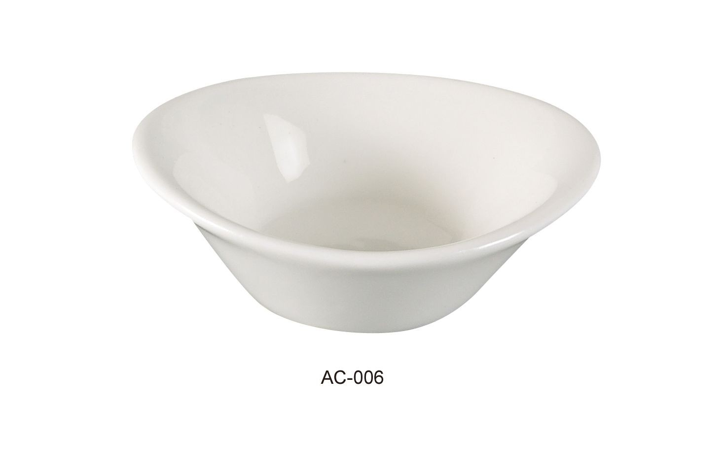 Jelly Dish 2 Oz - Bright White Wide Rim China