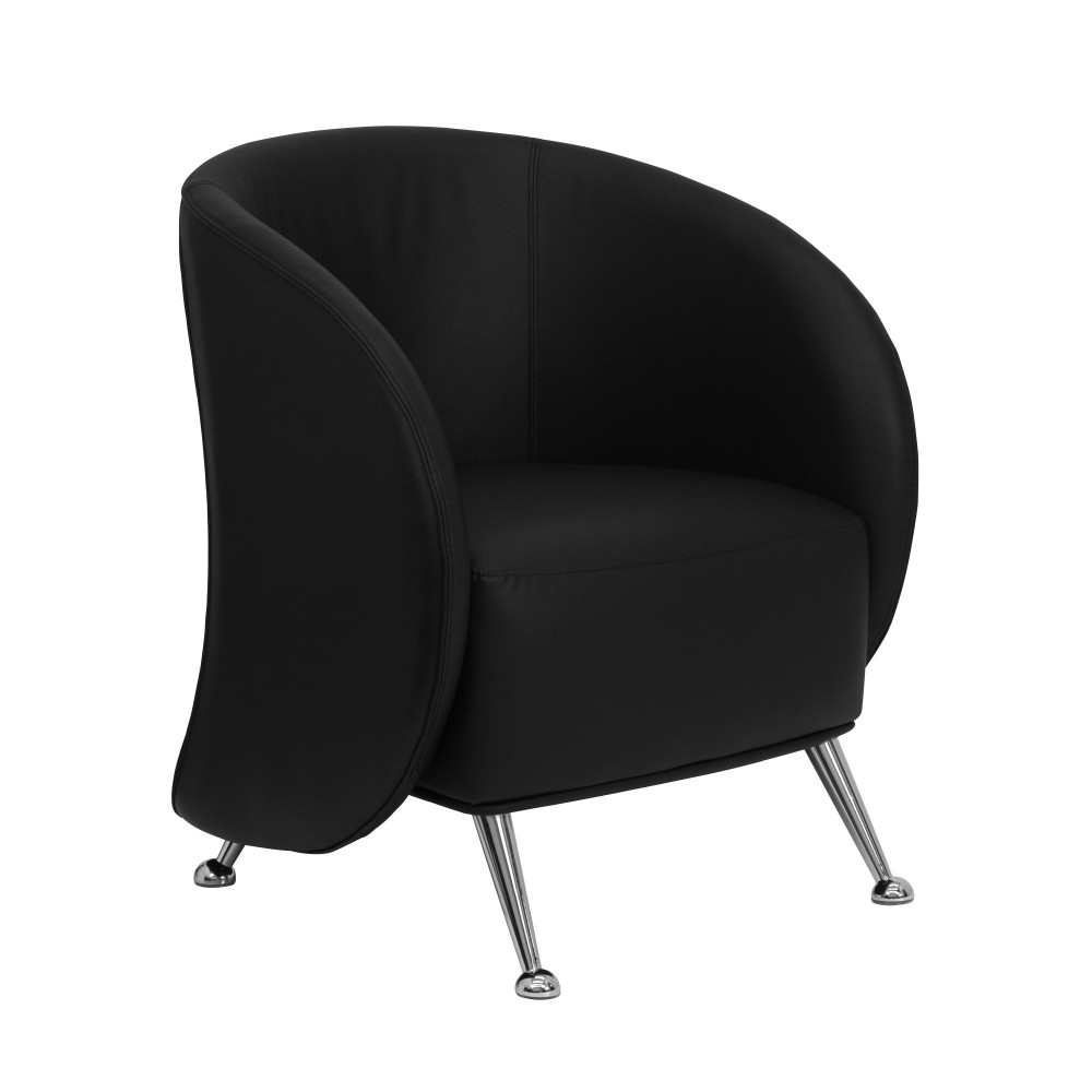 Flash Furniture ZB-JET-855-BLACK-GG Jet Series Black Leather Reception Chair