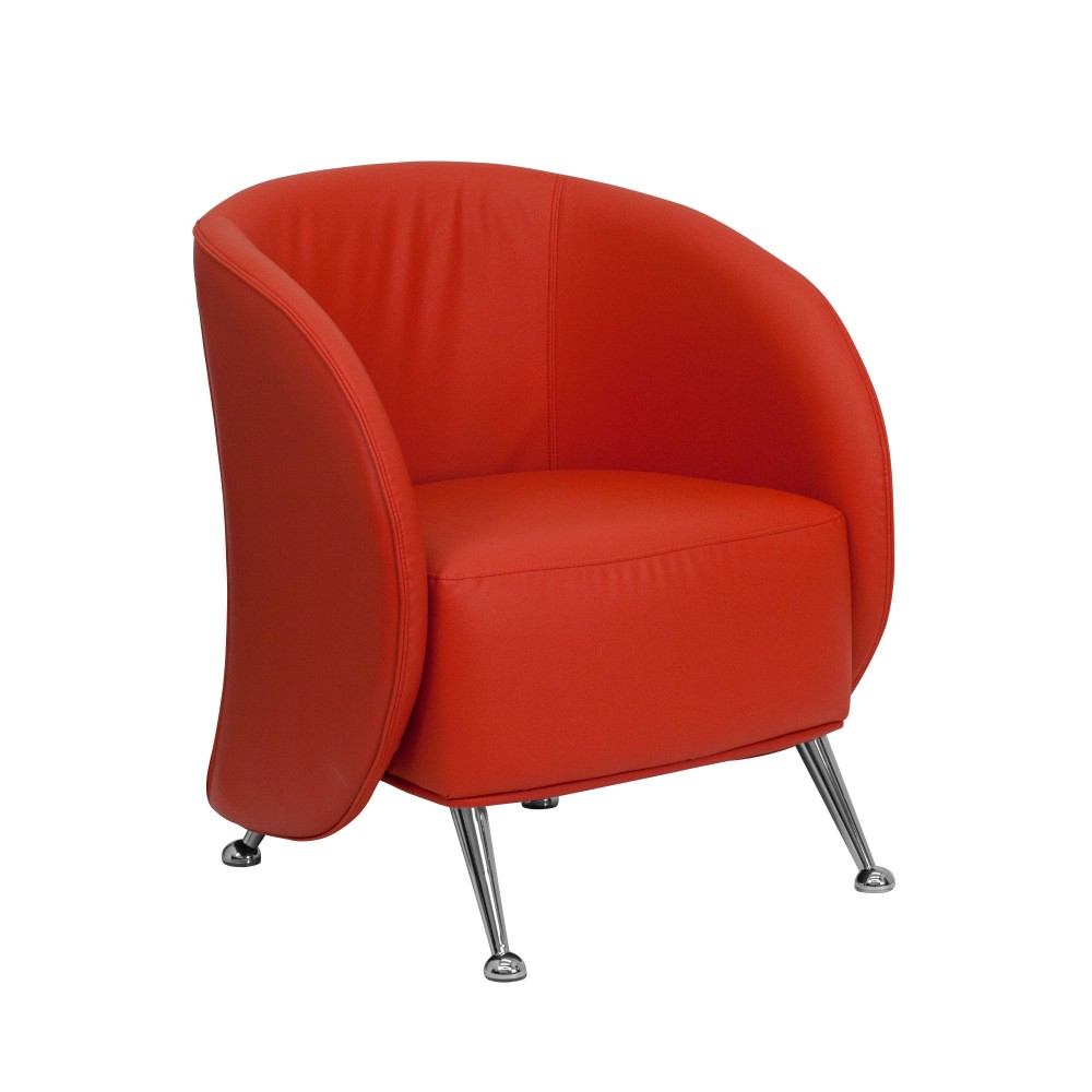 Flash Furniture ZB-JET-855-RED-GG Jet Series Red Leather Reception Chair