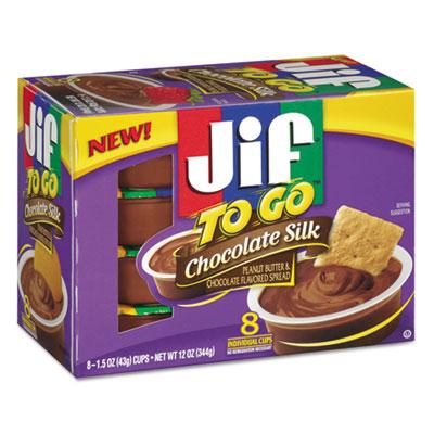 Jif To Go Chocolate Silk Spreads, 1.5 oz Cup, 8/Box