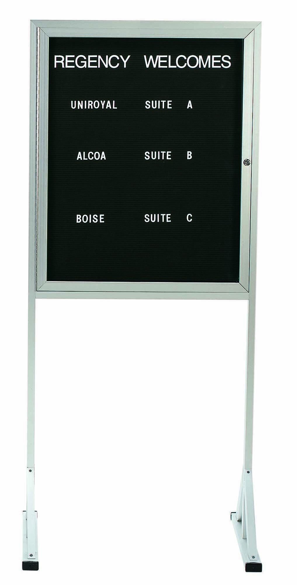 """Aarco Products FMD3630 Free Standing Letter Board with Aluminum Frame, 36""""H x 30""""W"""