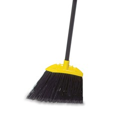Jumbo Smooth Sweep Angled Broom, 46-in Handle, Black/Yellow