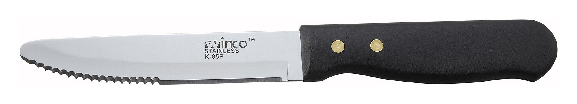 Winco K-85P Jumbo Steak Knife with Riveted Plastic Handle 5""
