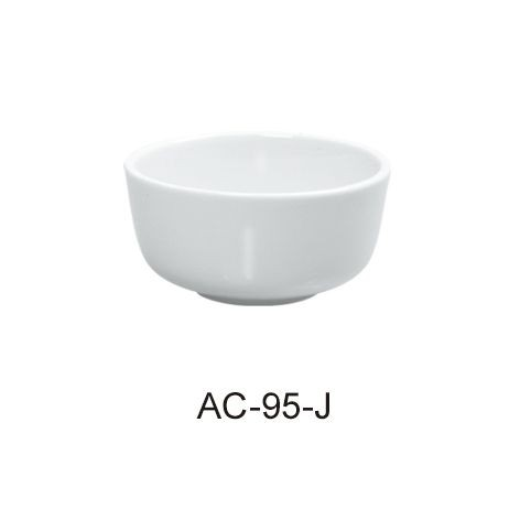 Jung Bowl 9.5 Oz - Bright White Wide Rim China