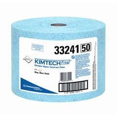 KIMTECH PREP KIMTEX Wipers, Jumbo Roll, 9 3/5 x 13 2/5, Blue, 717/Roll