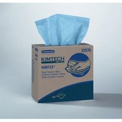 KIMTECH PREP KIMTEX Wipers, POP-UP* Box, 8 4/5 x 16 4/5, Blue, 100/Box