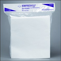 KIMTECH PURE W4 Dry Wipers, Flat, 12 x 12, White, 100/Pack
