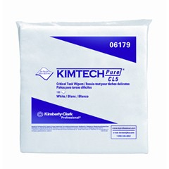 KIMTECH PURE W5 Dry Wipers, Flat, 9 x 9, White, 100/Pack