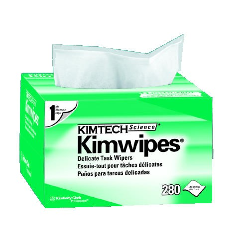 KIMTECH SCIENCE KIMWIPES Delicate Task Wipers, 14.7 X 16.6, 1-Ply, White