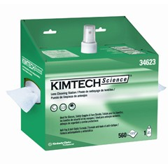 KIMTECH SCIENCE Lens Cleaning Station, POP-UP Box, White, 2/Container