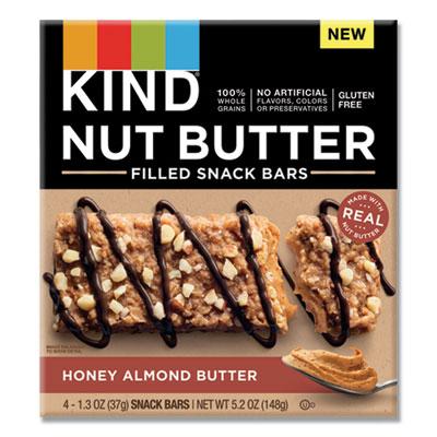 KIND Nut Butter Filled Snack Bars, Honey Almond Butter, 1.3 oz, 4/Pack