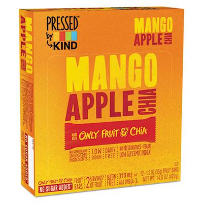 KIND Pressed Mango Apple Chia Bars, 1.2 oz, 12/Box