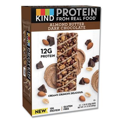 KIND Protein Bars, Almond Butter Dark Chocolate, 1.76 oz, 12/Pack