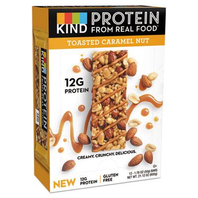 KIND Protein Bars, Toasted Caramel Nut, 1.76 oz, 12/Pack