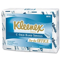 KLEENEX C-Fold Paper Towels, 10 1/8 x 13 3/20, White, 150/Pack
