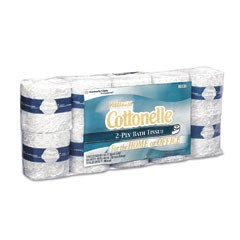 KLEENEX COTTONELLE Standard Bath Tissue, 1-Ply, White, 4.5 x 4, 506 Sheet/Roll