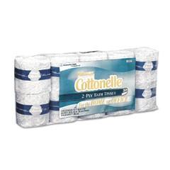 KLEENEX COTTONELLE Standard Bath Tissue, 1-Ply, White, 4.5 x 4, 506 Sheet/Roll