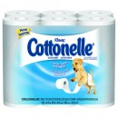 KLEENEX COTTONELLE Ultra Soft Bath Tissue, White, 1 Ply, 200 Sheets/Roll